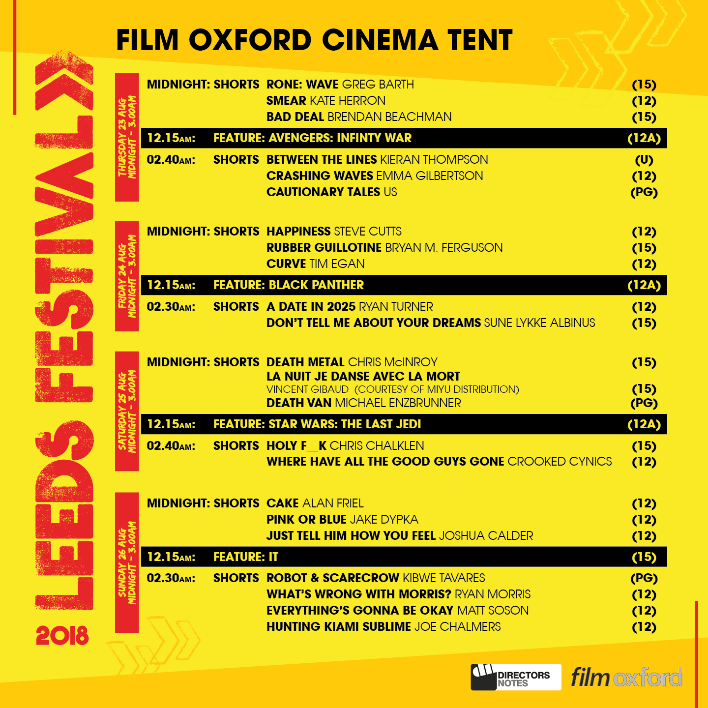 film oxford cinema tent leeds festival 2018