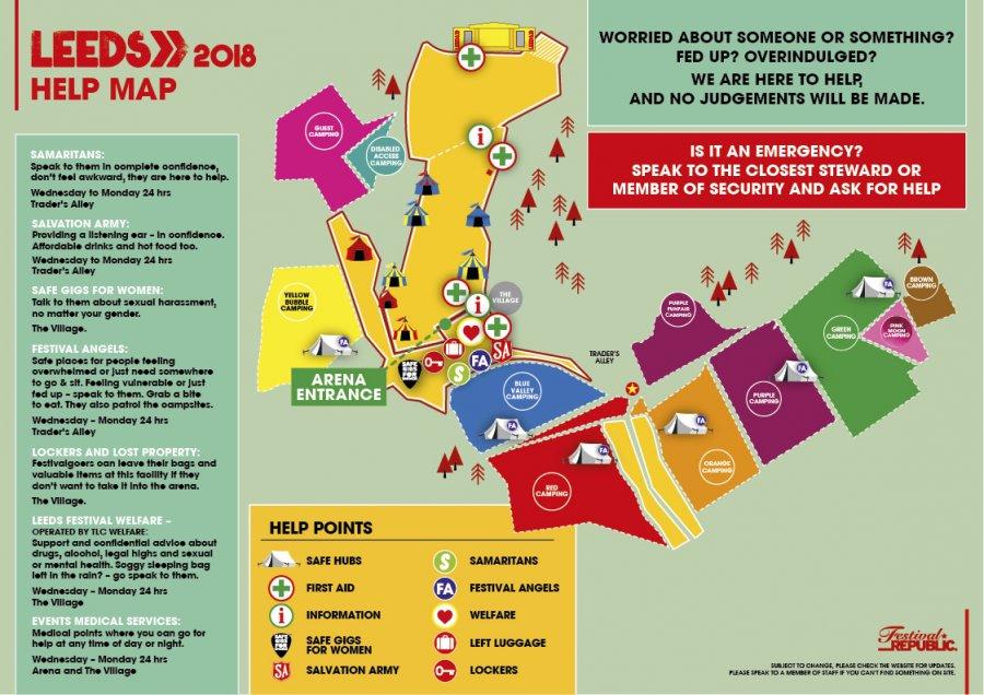Leeds Festival Map Leeds Festival | Help Map
