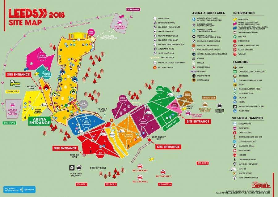 Leeds Festival Map