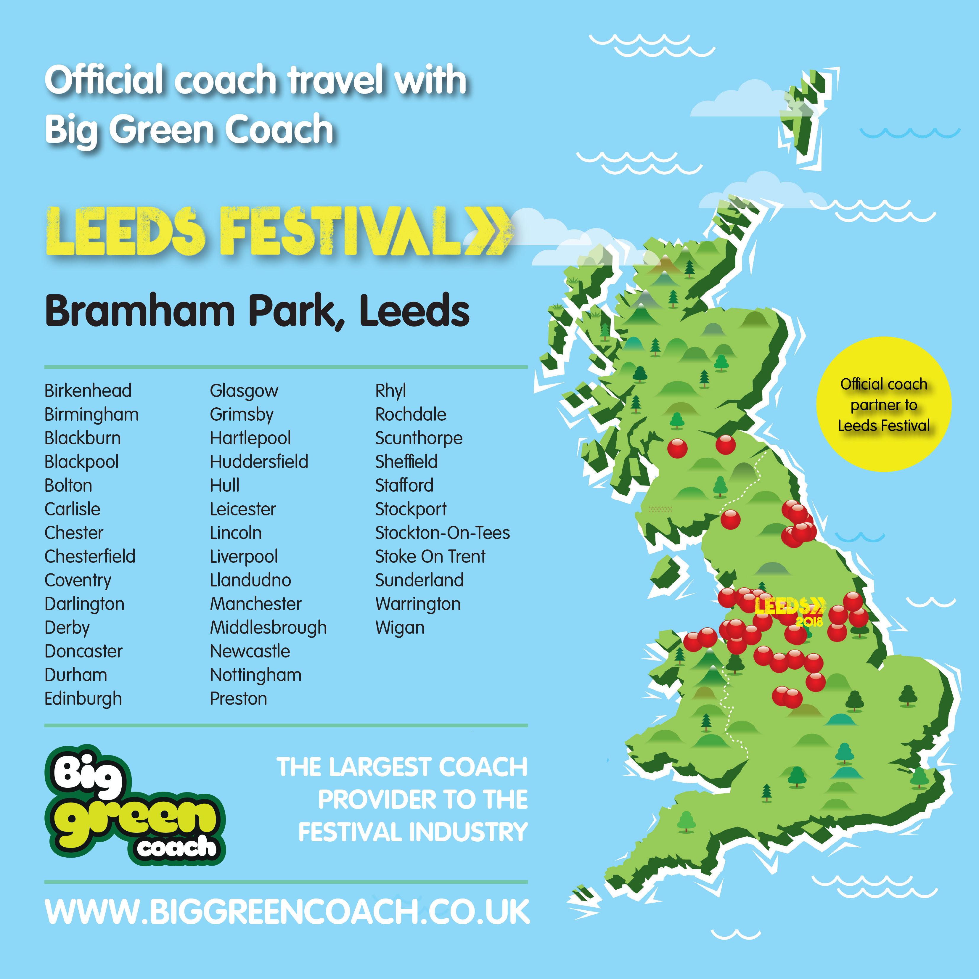 Leeds Festival Map Leeds Festival | New Leeds map