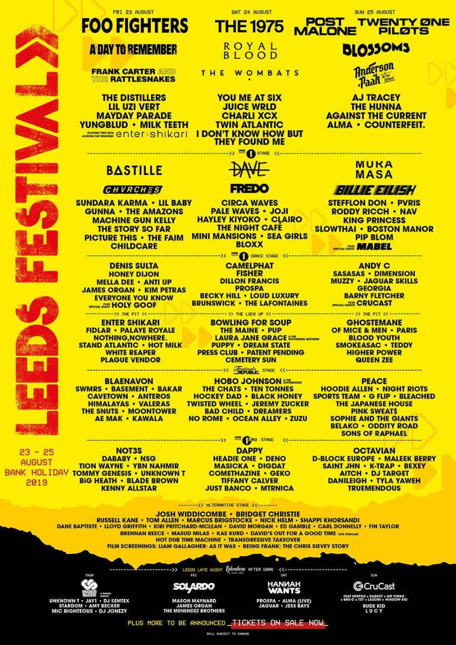 Leeds-Festival-2019-Line-Up